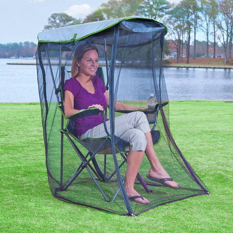 Awesome Canopy Chair With Mosquito Protector