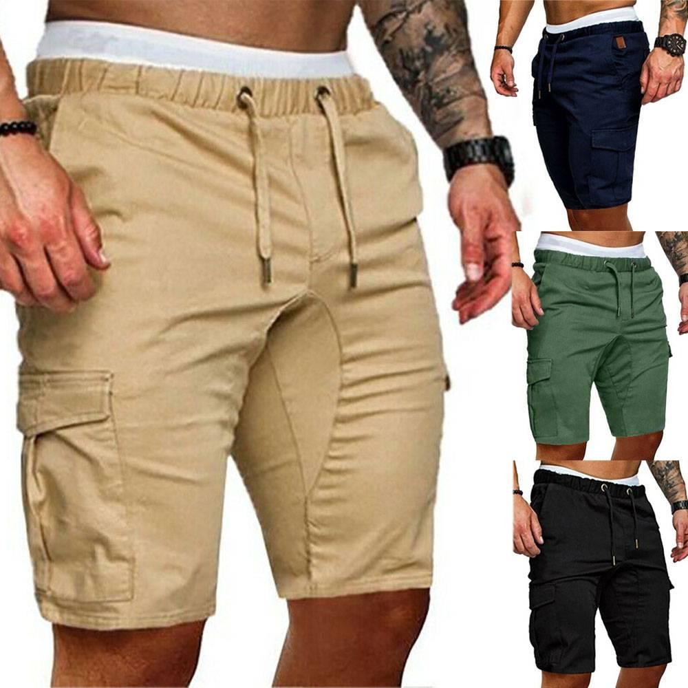 H479bfc1dfda749b389bc385605e65f6f8 Men's Summer Sports Shorts - Army Combat Cargo Short Trousers