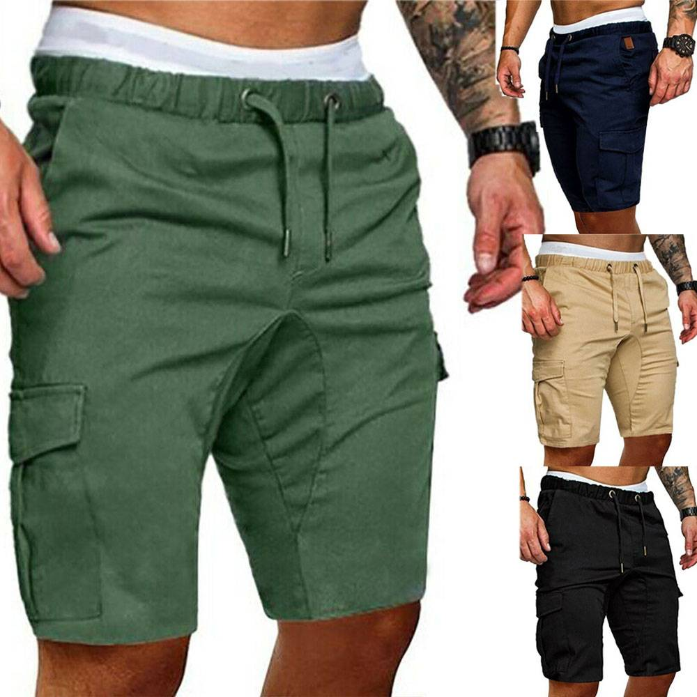 H4c60dc3c3e8a4961ad18d63d58b11452J Men's Summer Sports Shorts - Army Combat Cargo Short Trousers