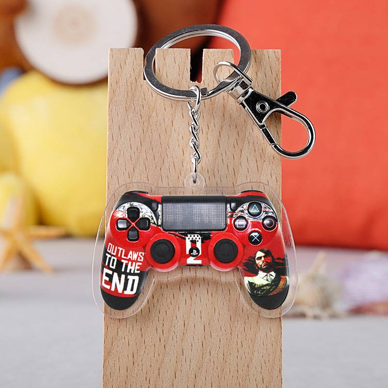 Red Dead Redemption 2 Keychain Acrylic Crystal Key Ring
