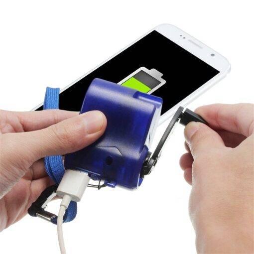 Usb Travel Emergency Hand Crank Phone Charger