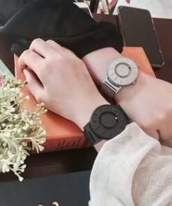 2018 New Style Watch Men EUTOUR Magnetic Ball Show Innovate WristWatches Mens Nylon Strap Quartz Watch 2 Awesome Midnight Onyx Classic Watch