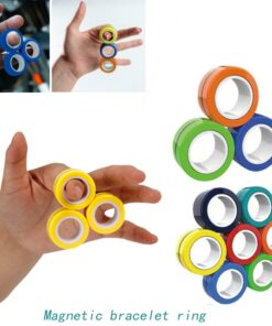 Anti Stress Finger Magnetic Rings For Autism ADHD Anxiety Relief Focus Kids Decompression Fingertip Toys Magic 1 Anti-Stress Finger Magnetic Rings