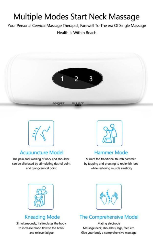 H303122d9447045268cd53d256145c019p 6 Modes Electric Neck Massager