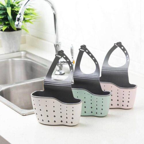 Sink Shelf Soap Sponge Drain Rack