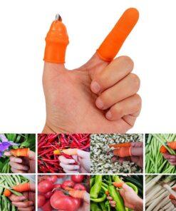 Silicone Thumb Knife Finger Protector Vegetable Harvesting Knife Plant Blade Scissors Separator Cutting Rings Garden Gloves 1 Silicone Thumb Knife - Cutting Rings Garden Gloves