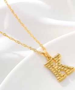 Tiny Gold Initial Letter Necklace For Women Stainless Steel A Z Alphabet Pendant Necklace Jewelry Christmas 2 INITIAL LETTER ALPHABET PENDANT NECKLACE