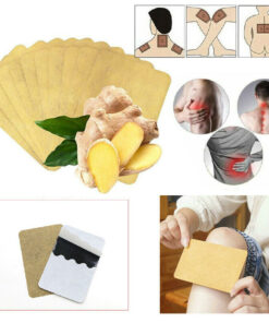 10Pcs Ginger Detox Patch Body Neck Knee Pad Pain Relief Swelling Chinese Ginger Adhesive Pads Ginger 2 10Pcs Ginger Detox Patch