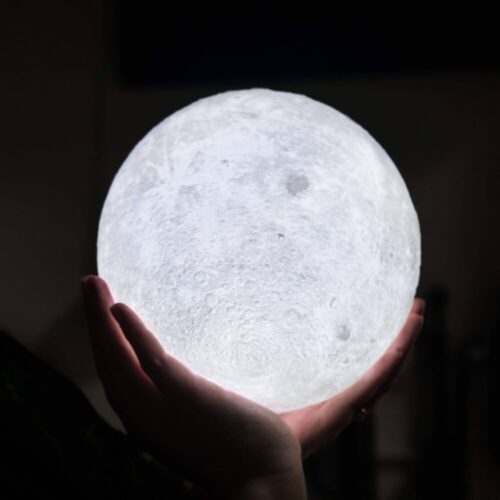 16 Colors Rechargeable Remote Controlled 3D Moon Light