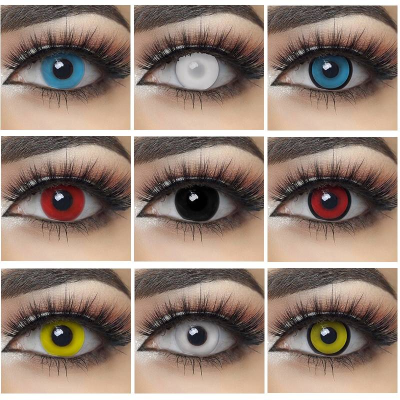 2pcs Pair Halloween Cosplay Colored Contact Lenses for Eyes Anime Lenses Colorful Contact Lenses for Eye Cool Gadgets | Awesome Gifts - Best Products