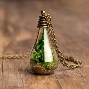 Glass Dandelion Wishing Necklace