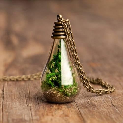 Glass Dandelion Wishing Necklace