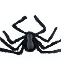 60cm 90cm 150cm 200cm size Practical Jokes Props Halloween Horrible Big Black Furry Fake Spider Creep 5 Scarry Black Spider Halloween Decoration