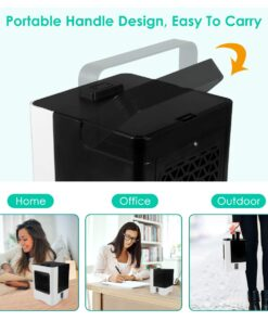 Air Conditioner Fan 4 in 1 Personal USB Air Cooler Mini Purifier Humidifier with LED Lights 3 4 in 1 High Power DESK AIR COOLER