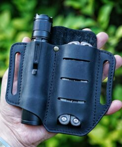 EDC Outdoor Leather Tool Knife Sheath Pockets Multitools Holder Essentials Organizer Belt Pouch Pocket Hunt Tactical 1 Outdoor Multitool Leather Sheath