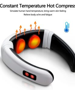 Electric Neck Massager Pulse Back 6 Modes Power Control Far Infrared Heating Pain Relief Tool Health 3 6 Modes Electric Neck Massager