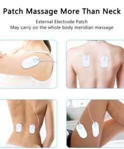 Electric Neck Massager Pulse Back 6 Modes Power Control Far Infrared Heating Pain Relief Tool Health 5 6 Modes Electric Neck Massager