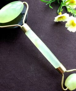 HOT SAL IN STOCKS Jade Roller Massager Long term Use Delay Skin Aging Promote Blood Circulation 3 Jade Stone Blood Circulation Roller