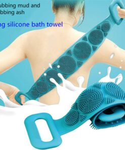 Magic Silicone Brushes Bath Towels Body Brush Bath Belt Exfoliating Back Brush Belt Wash Skin Household 3 Magic Silicone Shower Brush