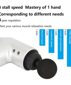 NEW Portable Electronic Therapy Muscle Massage Gun High Frequency Vibration Massage Theragun Body Relaxation Massager 5 NEW Portable Electronic Therapy Muscle Massage Gun