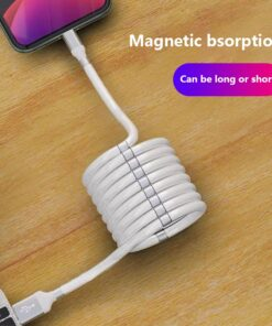 Super Calla Self Winding USB Magnetic Absorption Magic Fast Charging Data Cable Neatest Durable Charging Cable 1 MagicMagnet Fast Charging Data Cable For Iphone
