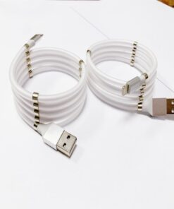 Super Calla Self Winding USB Magnetic Absorption Magic Fast Charging Data Cable Neatest Durable Charging Cable 5 MagicMagnet Fast Charging Data Cable For Iphone