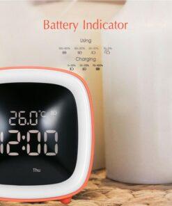 Temperature Night Light Alarm Clock Timing Table TV Shape Digital Adjustable Brightness Smart Snooze Function Cute 5 Cute TV Shaped Night Light