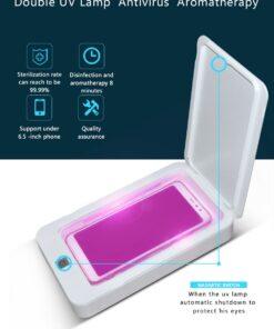 geekbuying Portable Sterilizer Box with Aromatherapy White 845075 Portable Smartphone Sanitizer