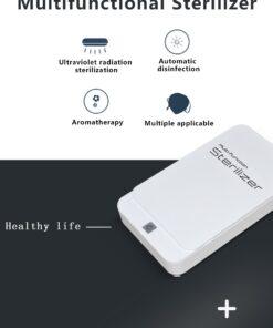 geekbuying Portable Sterilizer Box with Aromatherapy White 845076 Portable Smartphone Sanitizer