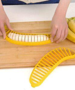 1pc creative Plastic Banana Slicer Cutter Fruit Vegetable Tool Salad Maker Cooking Tools practica Slicer Cutterl 1 The Best Plastic Banana Slicer