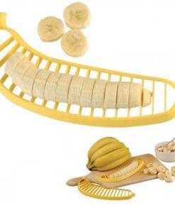 1pc creative Plastic Banana Slicer Cutter Fruit Vegetable Tool Salad Maker Cooking Tools practica Slicer Cutterl 4 The Best Plastic Banana Slicer