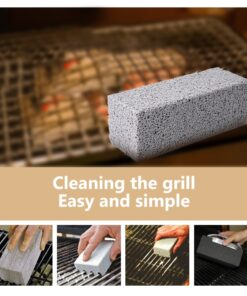 2Pcs BBQ Grill Cleaning Brick Block Barbecue Cleaning Stone BBQ Racks Stains Grease Cleaner BBQ Tools 1 The Best BBQ Grill Brick