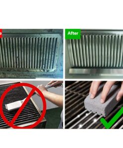 2Pcs BBQ Grill Cleaning Brick Block Barbecue Cleaning Stone BBQ Racks Stains Grease Cleaner BBQ Tools 3 The Best BBQ Grill Brick