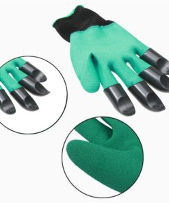 4 8 Hand Claw ABS Plastic Garden Rubber Gloves Gardening Digging Planting Durable Waterproof Work Glove 4 Hand Claw ABS Plastic Garden Rubber Gloves