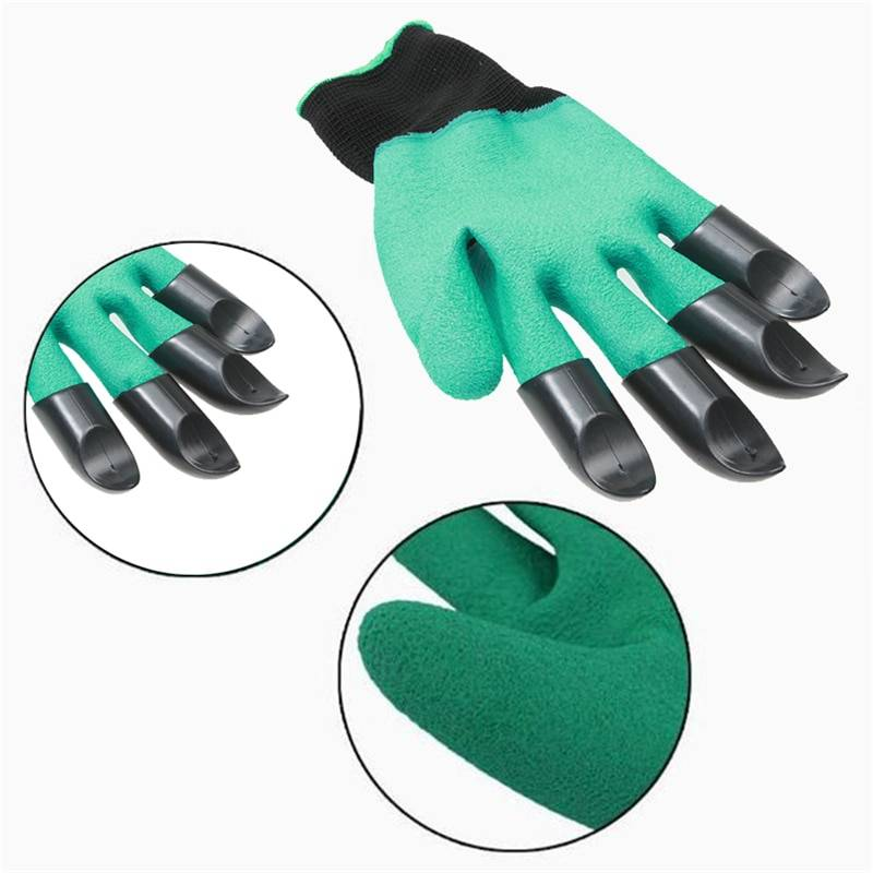 Hand Claw ABS Plastic Garden Rubber Gloves