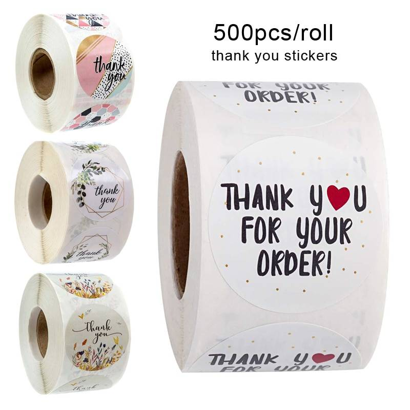 Thank You Stickers Roll