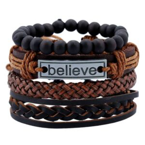Handmade Weave Vintage Leather Bracelets