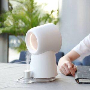 HL Happy Life nesugar 3 in 1 Mini Cooling Fan Bladeless Desktop Fan Mist Humidifier w/ LED Light