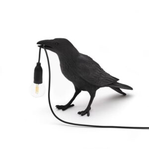 Cool Table And Wall Crow Light