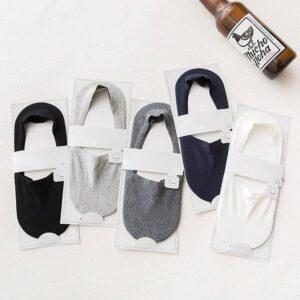 Hot 5 Pairs Anti-slip Silicone No Show Socks