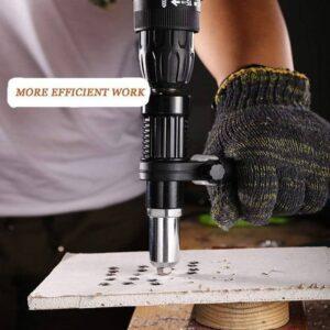 Rivet Gun Adapter Drill Attachment