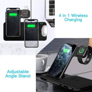 Fast Wireless Charger Stand For iPhone & Apple Watch Dock Station Gadkit