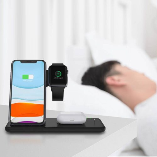 Fast Wireless Charger Stand For iPhone  & Apple Watch Dock Station