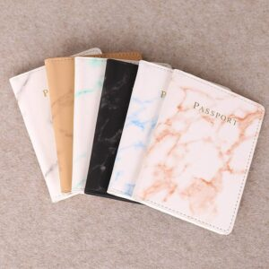 Marble Style Passport Holder Wallet