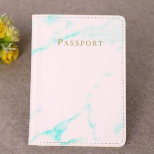 Marble Style Passport Holder Wallet