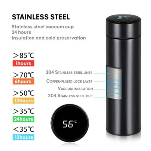 500ML Temperature Display Thermos Bottle