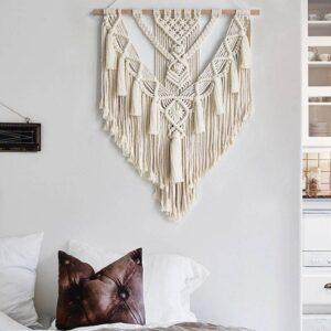 Macrame Wall Hanging Tapestry 55X70cm Gadkit