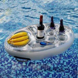 Inflatable Pool Float Beer Drinking Cooler Table Bar Tray Gadkit