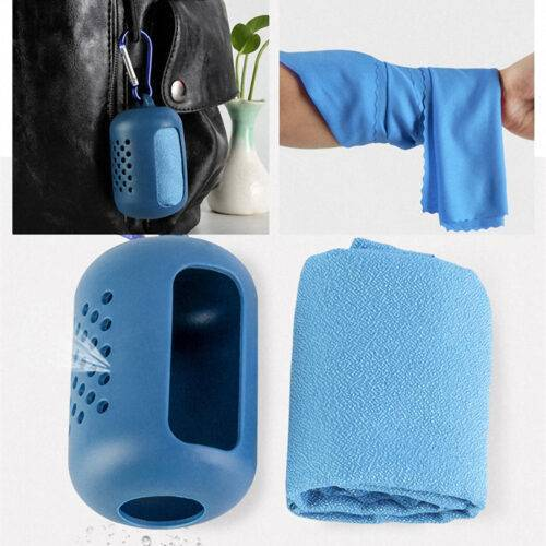 Microfiber Towel – Instant cooling towel + Silicone Bag