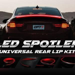 Led Spoiler Bmw  Audi Peugeot Tesla POLO Mazda Passat Car Exterior Parts